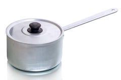 Aluminum saucepan Royalty Free Stock Image