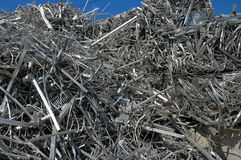 Aluminum scrap Royalty Free Stock Photo