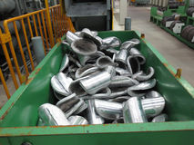 Aluminum scrap Royalty Free Stock Images