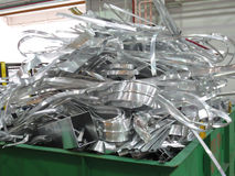 Aluminum scrap Royalty Free Stock Photos