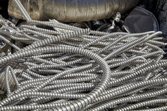 Aluminum scrap metal duct conduit waste recycling Royalty Free Stock Photography