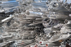 Aluminum scrap for recycling Royalty Free Stock Photos