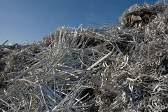 Aluminum scrap for recycling Royalty Free Stock Photography