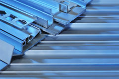 Aluminum sectional strips Royalty Free Stock Image