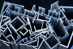Aluminum sectional strips Royalty Free Stock Photo