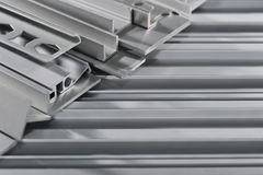 Aluminum sectional strips Stock Photos