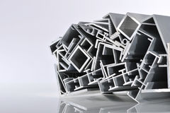 Aluminum sectional strips Royalty Free Stock Photos
