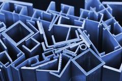 Aluminum sektions- remsor Arkivfoto
