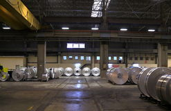 Aluminum sheet factory Stock Photos