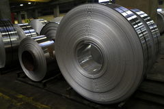 Aluminum sheet factory Stock Photography