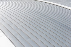 Aluminum sheet roof background Royalty Free Stock Photography