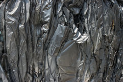 Aluminum sheets. A bale of compressed aluminum sheets Royalty Free Stock Images