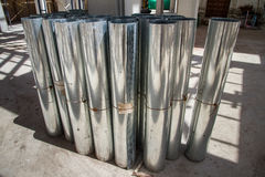 Aluminum sheets for construction. Stock Image