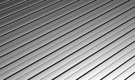 Aluminum silver long strip pattern background Stock Photography