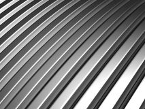 Aluminum silver stripe pattern. Background 3d illustration Stock Photos