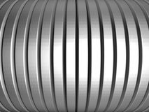 Aluminum silver stripe pattern Stock Photo