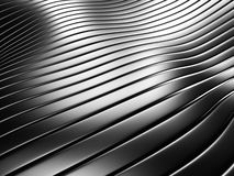 Aluminum silver stripe pattern abstract background. 3d render illustration Stock Photography