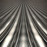 Aluminum silver stripe pattern. Background with perspective Royalty Free Stock Photography