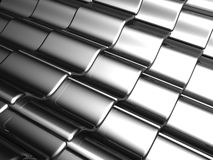 Aluminum silver tile background Stock Photography