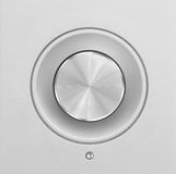 Aluminum or silver volume knob button Royalty Free Stock Images