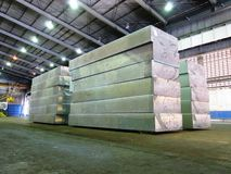 Aluminum slab. Stock Image