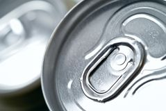 Aluminum soda water can Stock Photo