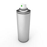 Aluminum spray can. Isolated on white background Stock Photography