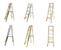 Aluminum step ladder on white isolate background. Royalty Free Stock Photos