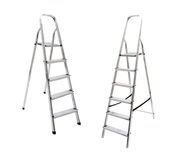 Aluminum step ladders Royalty Free Stock Photos