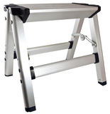 Aluminum Step Stool Ladder Royalty Free Stock Images