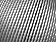 Aluminum stripe pattern. Aluminum silver pattern background 3d illustration Royalty Free Stock Photo