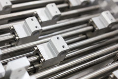 Aluminum structural metal shapes Stock Image