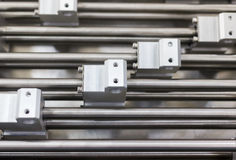 Aluminum structural metal shapes Stock Images