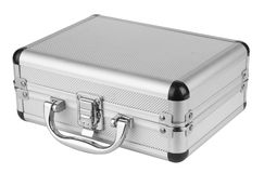 Aluminum suitcase Stock Photos