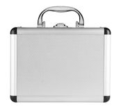 Aluminum suitcase Royalty Free Stock Photography