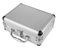 Aluminum suitcase Stock Photo