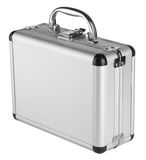 Aluminum suitcase Royalty Free Stock Photos