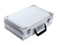 Aluminum suitcase Stock Photography