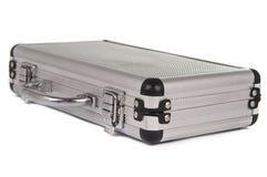 Aluminum suitcase isolated Royalty Free Stock Photo