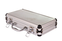 Aluminum suitcase isolated royalty free stock photography