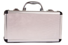 Aluminum suitcase isolated Stock Photography