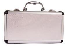Aluminum suitcase isolated Stock Photography