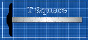 Drafting T Square for Architecture, Engineers, Science Stock Photos