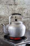 Aluminum tea kettle Stock Image