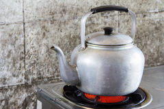 Aluminum tea kettle Royalty Free Stock Photography