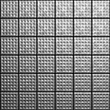 Aluminum textured tile background. 3d illustration Stock Photography