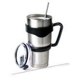 Aluminum thermos tumbler mug isolated on white background Royalty Free Stock Images