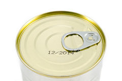Aluminum tin can. Close Up Royalty Free Stock Photo
