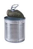 Aluminum tin can Royalty Free Stock Photos