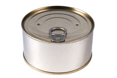 Aluminum tin can Royalty Free Stock Image